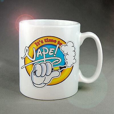 Coil Mug - VAPING E-PEN MUG & COASTER, MICKEY HANDS STYLE, E CIG (NOT LIQUID OR COIL)