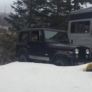1979 CJ-7 Jeep  with Plow