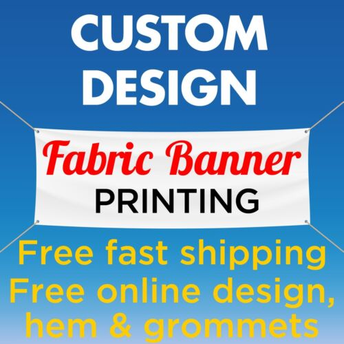4' x 12' Custom Banner Fabric  Full Color Free Online Design (no Vinyl)