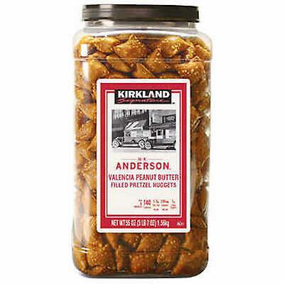 Anderson Peanut Butter Pretzels - Kirkland H.K Anderson Valencia Peanut Butter Filled Pretzel Nuggets 1.56kg