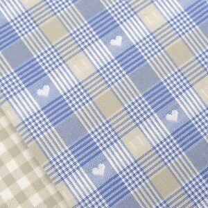 Swedish Farmhouse ~ Blue Heart Check Fabric / vintage gingham linen