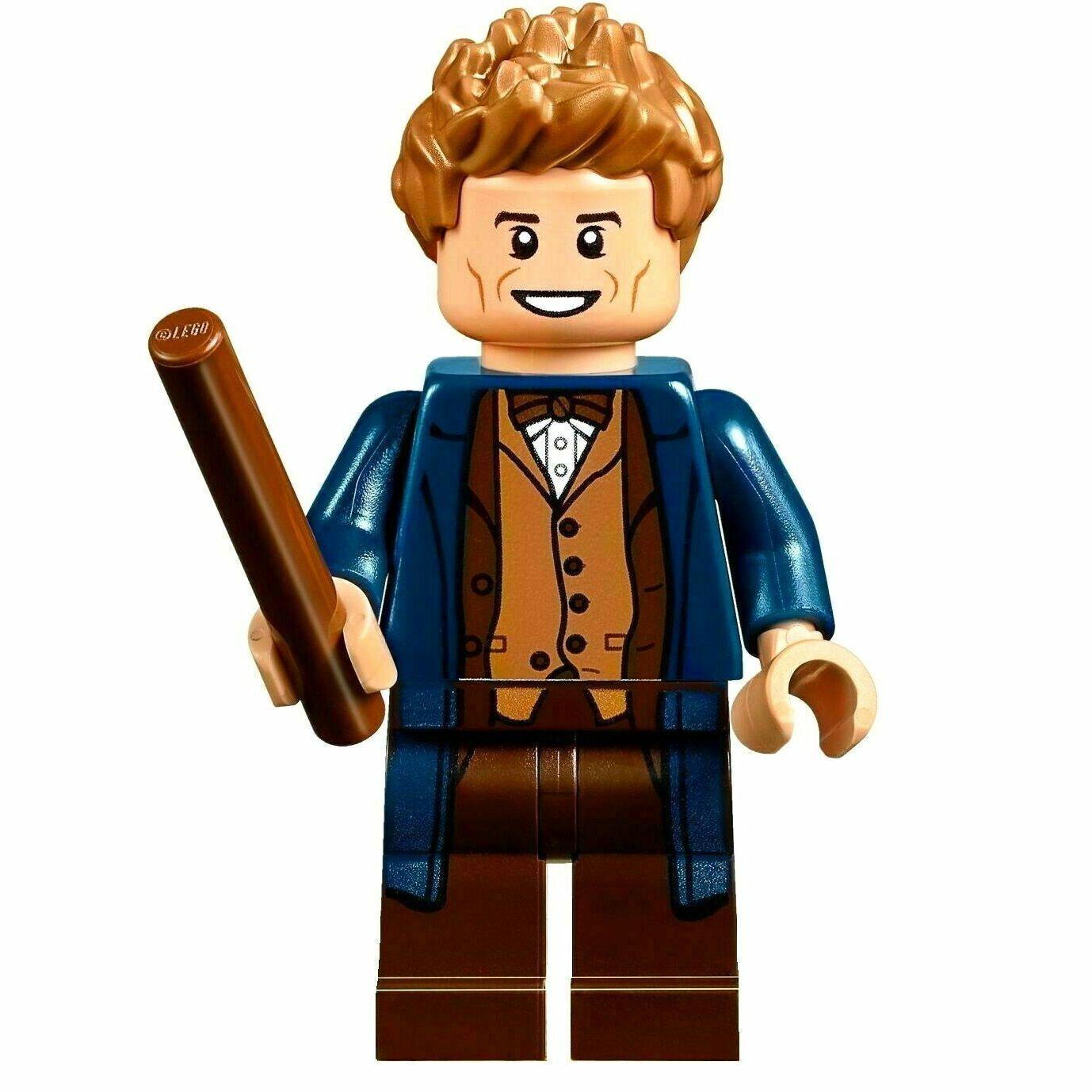 LEGO Newt Scamander Minifigure NEW Fantastic Beasts Harry Potter Minifig /& Wand