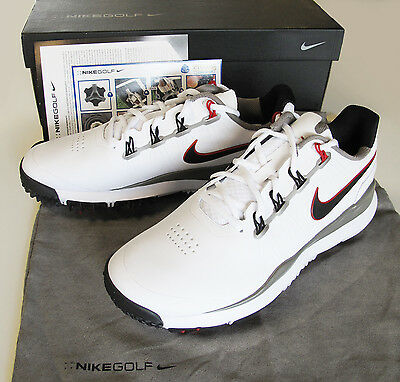 Brand New Nike Tw 14 Golf Shoes White Medium   599416 100
