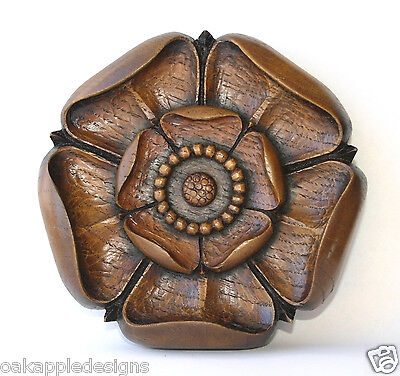 Yorkshire Rose Unique Carving Tudor Ornament York Gift