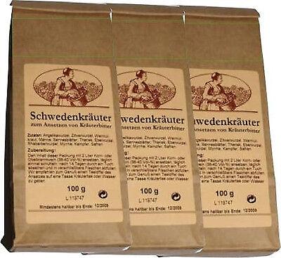 Schwedenkräuter Klein Schwedenbitter 3x100g Maria Treben  Kräutermix