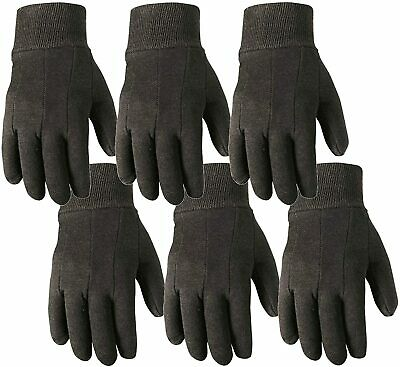 6 Pair Bulk Pack Jersey Cotton Work Gardening Gloves Large Wells Lamont 501l