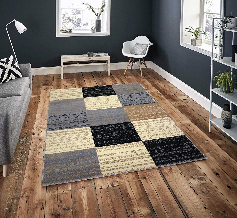 Pyramid Decor  Gray Area Rug, Area rugs Clearance, 5' x 7' F