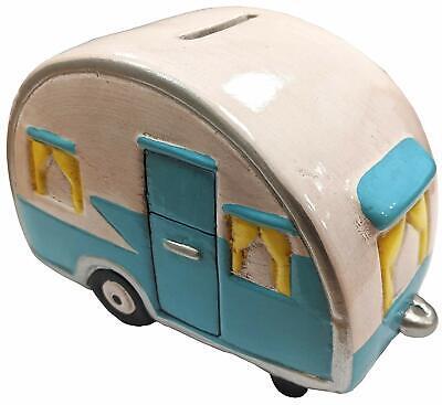 Novedad Cerámico Camper Furgoneta Retro Caravana Hucha Moneda Ahorros TY5363