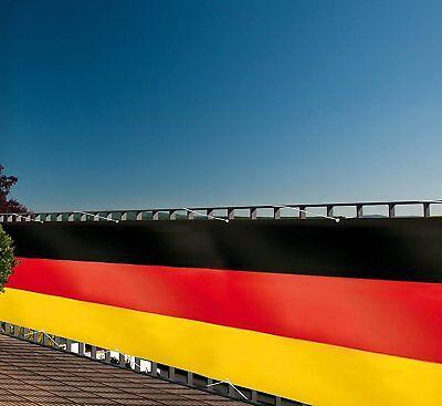 Deutschlandfahne XXL 300 x 90 cm für Balkon-Sichtschutz Gartenzaun Zaun-Fahne