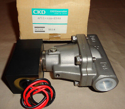 Ckd Ap11-15a-e3aa Electric Solenoid Valve 24vdc Ap1115ae3aa Stainless Steel New
