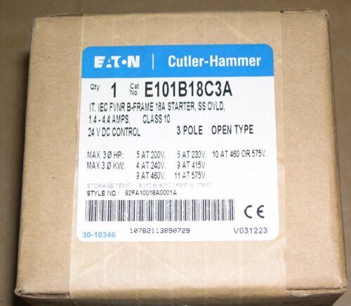 EATON CUTLER-HAMMER, E101B18C3A, MOTOR STARTER, NEW BUT OLD, SEALED BOX