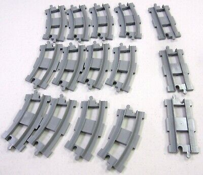 Lego Duplo 10874 16 pieces of Gray Track - Complete Track  FREE Shipping in US!