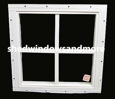 Storage Shed Windows 16 X 16 Square White, Playhouse