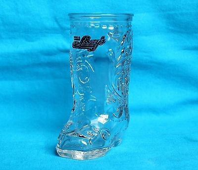 TEXAS LOOSEY'S - WESTERN COWBOY BOOT GLASS DRINKING MUG (Cowboy Boot Drinking Glasses)