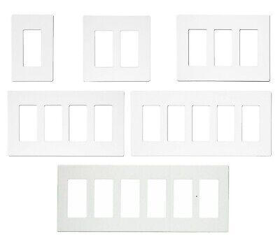 DECORA GFI PLUG SWITCH WALL SCREWLESS PLASTIC COVER PLATE 1 2 3 4 5 6 GANG (4 Gang Decora Screwless Plate)