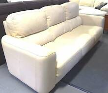 3 SEATER –GENUINE LEATHER LOUNGE- APRICOT  DRASTICALLY REDUCED Kewarra Beach Cairns City Preview