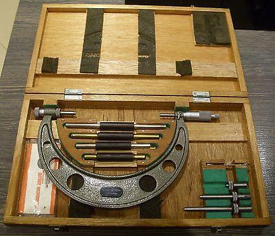 MITUTOYO 104-140 outside micrometer in original box 100mm - 200mm