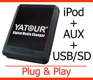 USB MP3 iPod iPhone Aux Adapter Volvo HU 403 450 601 603 605 611 801 803 1205
