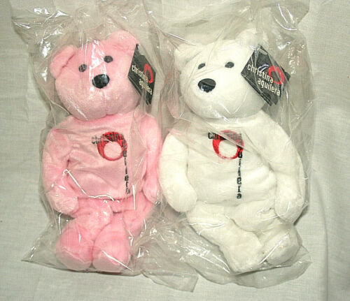 Christina Aguilera Genie In A Bottle 2 Bear Set New NOS 2000 NECA LE of 15,000