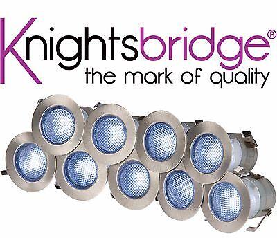 Knightsbridge IP65 230V 10x 0.2W LED Integrated Kit 10x Decking Blue Light Lamp