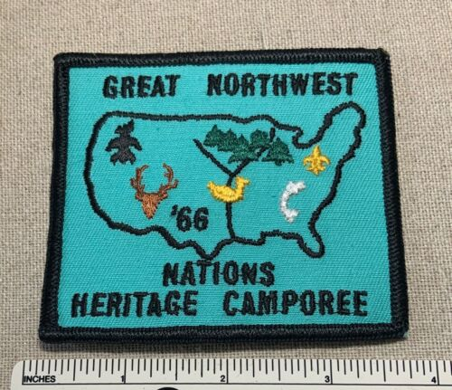 Vintage 1966 GREAT NORTHWEST Boy Scout Nations Heritage Camporee PATCH BSA Camp