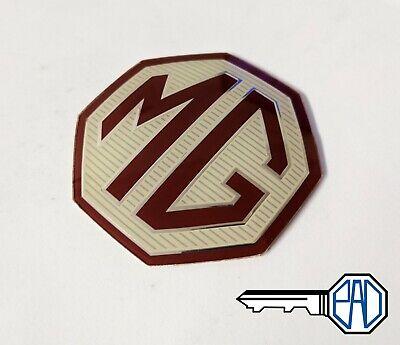 Steering Badge Burgundy C MG TF Badge Insert Set Front Rear 4 Wheel Badges 45mm