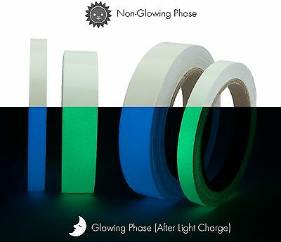 Luminous Photoluminescent Glow In The Dark  Home Decor Tape Green-Blue (U.S.A.)](Glow In The Dark Green)