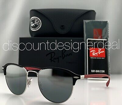 Ray-Ban RB3596 Liteforce Sunglasses 9091/88 Matte Black Red Silver Mirror (Red Mirror Sunglasses)