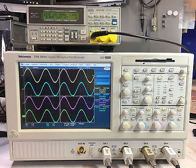 Tektronix Tds5034 Dpo Oscilloscope 4ch 350mhz 5gss 2m Sm J2 Usb Pw2 Jt3 J3e Rg