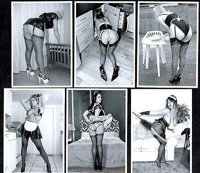 Pretty Maids In A Row II Postcard Set Nylon Stockings Sexy French Uniform Girls - Pretty Girls In Nylons