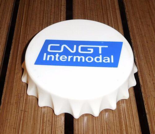 1983 Emu Plastics Bottle Cap Opener Magnet CN Intermodal Railroad Transportation