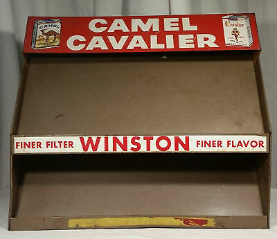 WINSTON CAMELS CAVALIER CIGARETTES STORE DISPLAY SHELF RACK SIGN ADVERTISING  - Cavs Store
