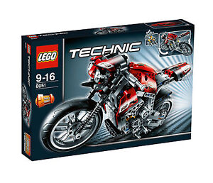 LEGO Technic Motorrad (8051) wie NEU & in OVP / vollständig & TOP genau beklebt