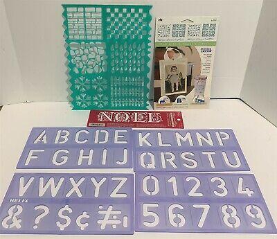 STENCILS Letters Alphabet Backgrounds Christmas Lot ()