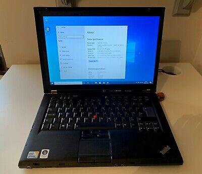 Lenovo Thinkpad R400 (T400) 2.4ghz, SSD, 4GB RAM, WINDOWS 10, UPGRADED, -LOVELY!
