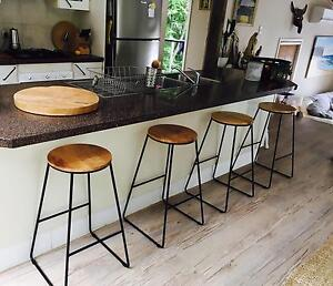 Rustic industrial kitchen barstools x4 brand-new Avalon Pittwater Area Preview