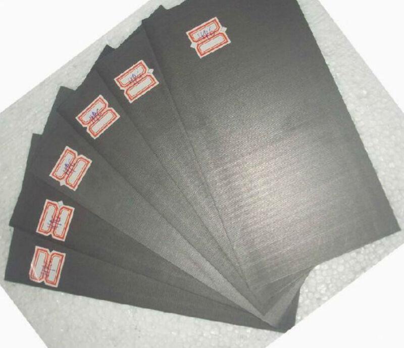 5pcs 99.99% Pure Graphite Electrode Rectangle Plate Sheet 50*40*3mm #EV-35 GY