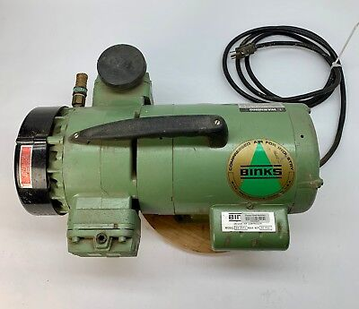 Binks Supplied Air Compressor Tested 50psi 34-2051 34hp Airbrush Paint Sprayer