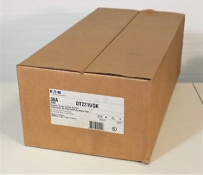 Eaton Dt221ugk Double Throw Safety Switch 30a 240v Nema 1 Back-up Generator