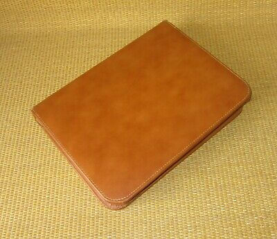 Classicdesk Day-timerrunner Brown Leather 1 Rings Zip Plannerbinder