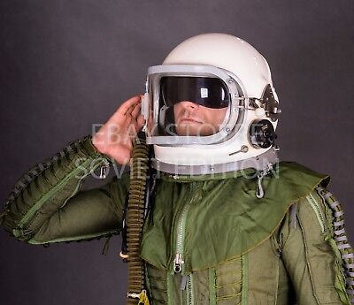 Vintage fighter pilot helmet size XL 3Б GSH-6 flight jet space air force - Fighter Pilot Helmet