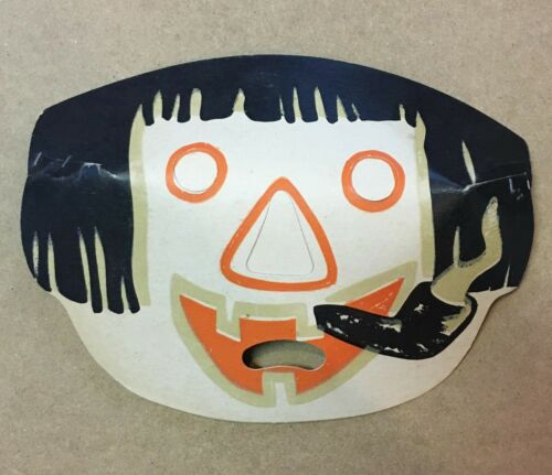 Vintage Halloween Hobo Clown Luminous Masklite Mask 50