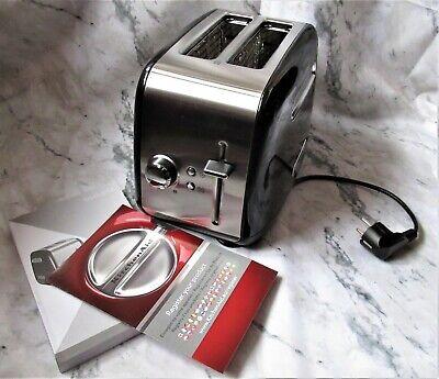 Toaster 2 slice Grille-pain 2 fentes KICHENAID 5KMTL5112EOB Noir Onyx