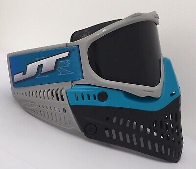 - NEW JT Proflex Paintball Goggle Mask Teal Blue Grey Black Thermal Lens Xfactor
