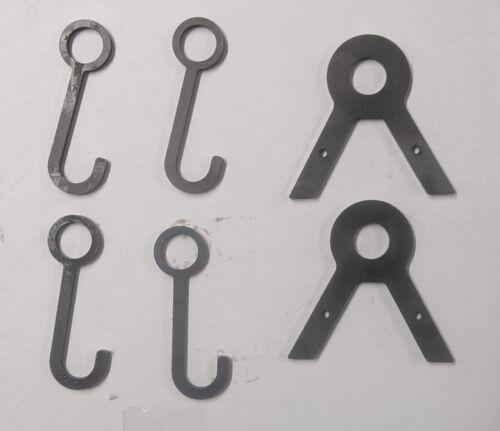 "1"" Conduit DIY Target Hanging Hook Stand & 4"" Long Hooks (2 Brackets & 4 Hooks)"