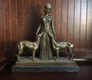 100 Years old (approx) Brass/Marble  Figure