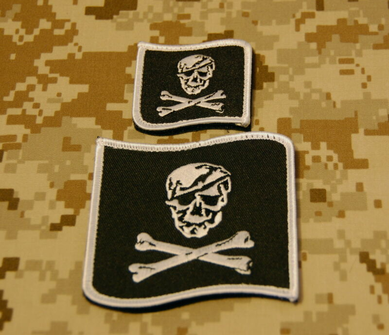 NSWDG Blue Squadron Embroidered Uniform Patch Set NSWDG B&W SEAL Team 6 DEVGRU