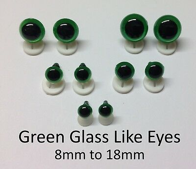 GLASS LIKE EYES - PLASTIC BACKS Teddy Bear Making Soft Toy Doll Animal Craft  - 8