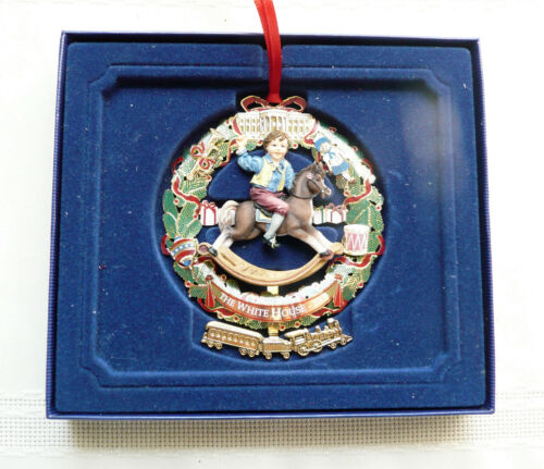 2003 White House Historical Christmas Ornament Rocking Horse