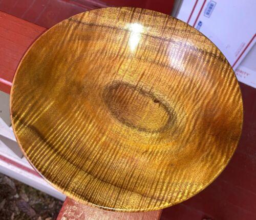 Hawaiian Fiddleback Curl KOA Wood Bowl Dish~Gallery & Collector Quality (#05)